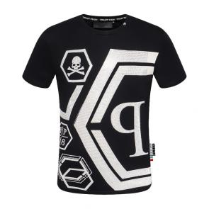 t-shirt garcon philipp plein cool qp78 hexagon black